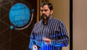 Luis Suarez presenting at Social Now Europe 2016