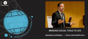 Emanuele Quintarelli talks of social tools at Social Now 2016