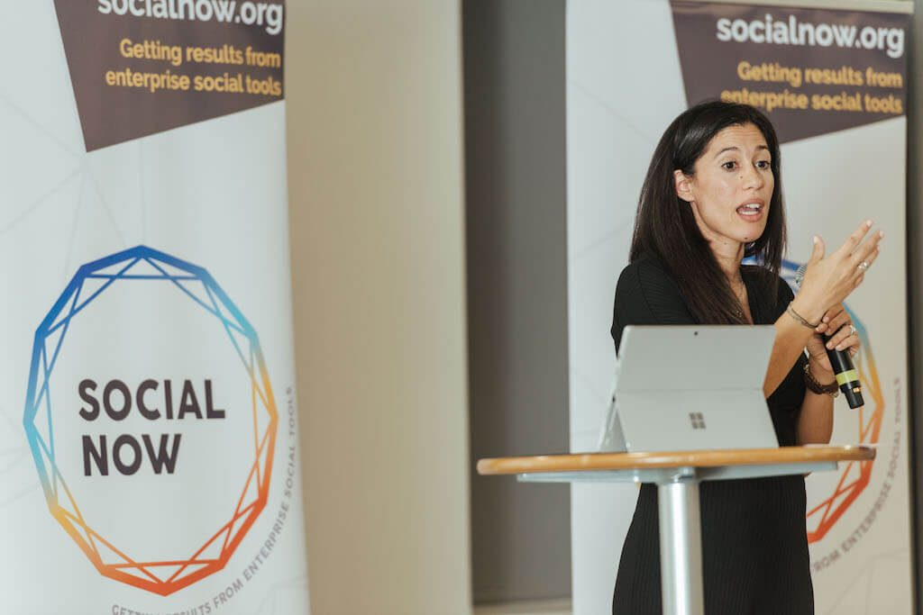 Filomena Conceição of Immochan Portugal on stage of Social Now 2018