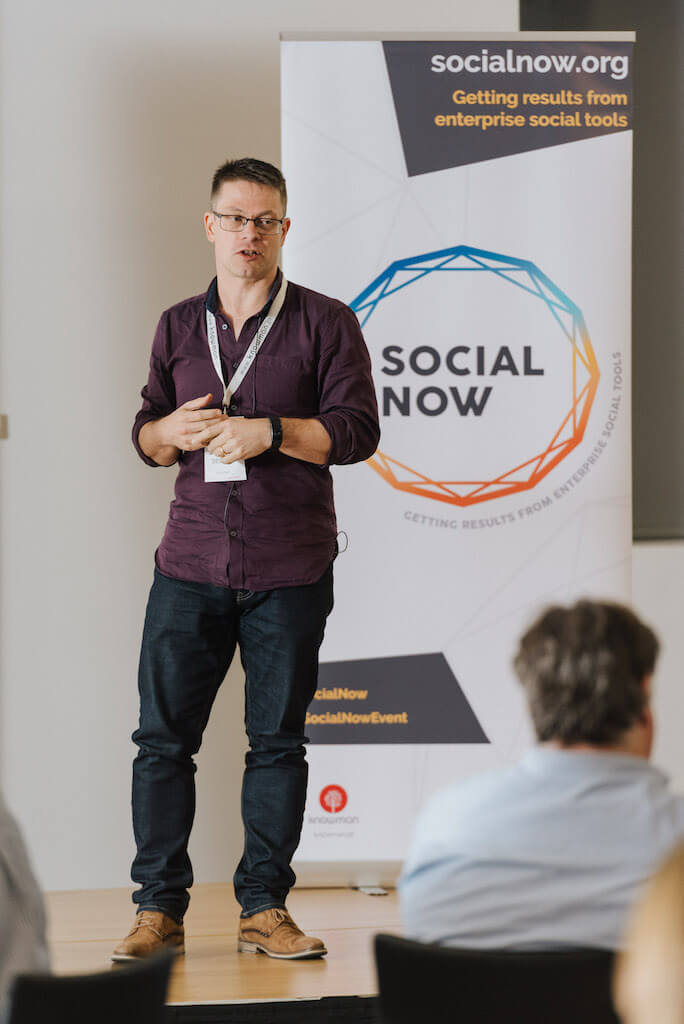 James Dellow at Social Now 2018
