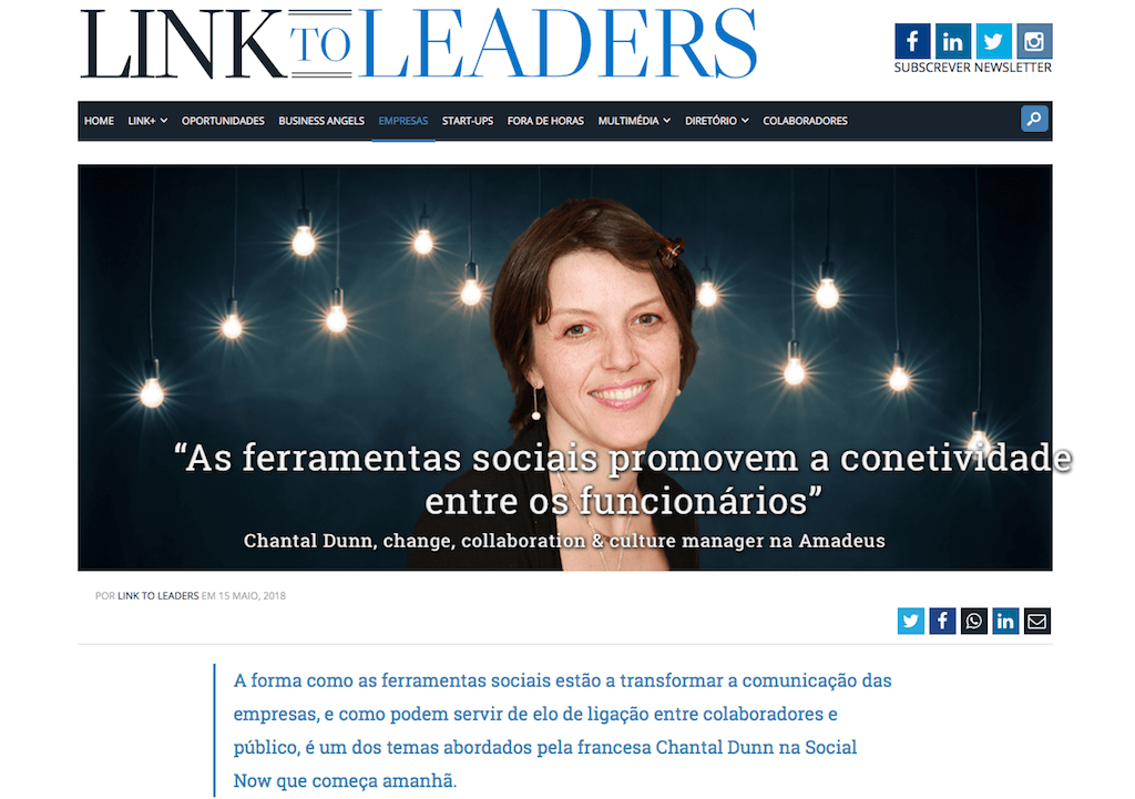 Chantal Dunn's interview on Link To Leaders