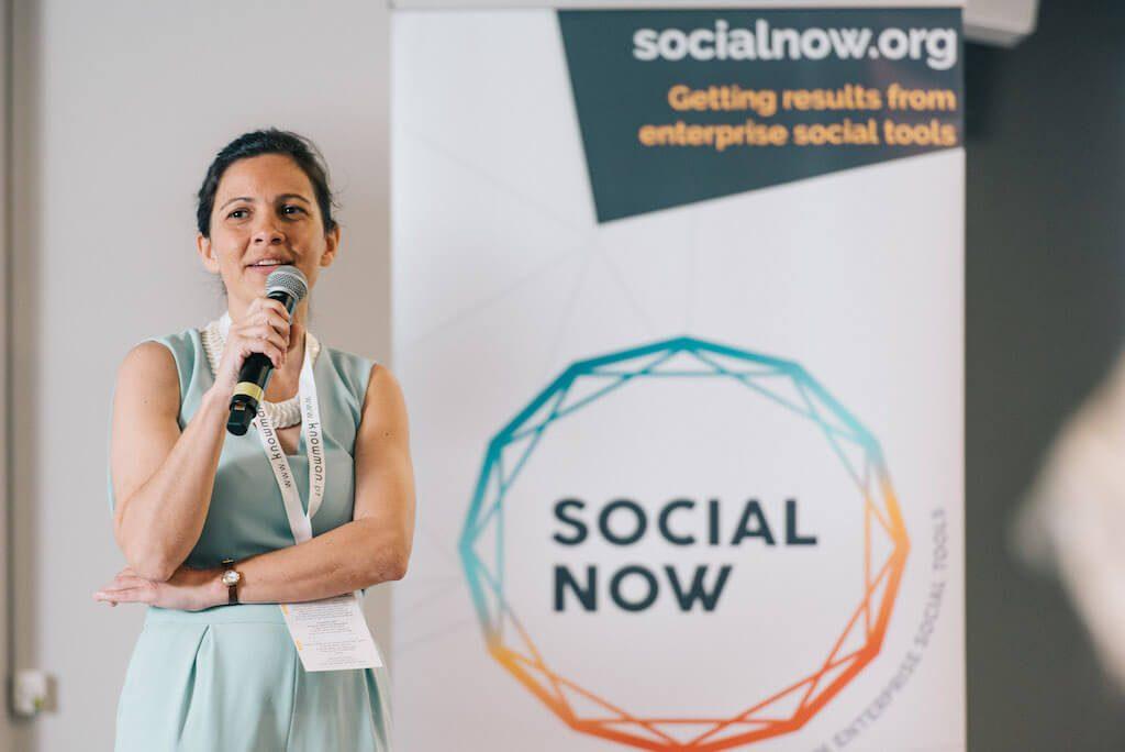 Sofia Riço Calado on stage of Social Now 2018
