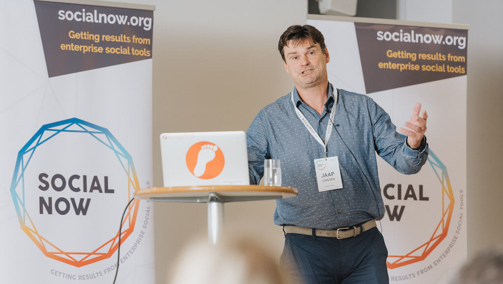Jaap Linssen presenting at Social Now 2018