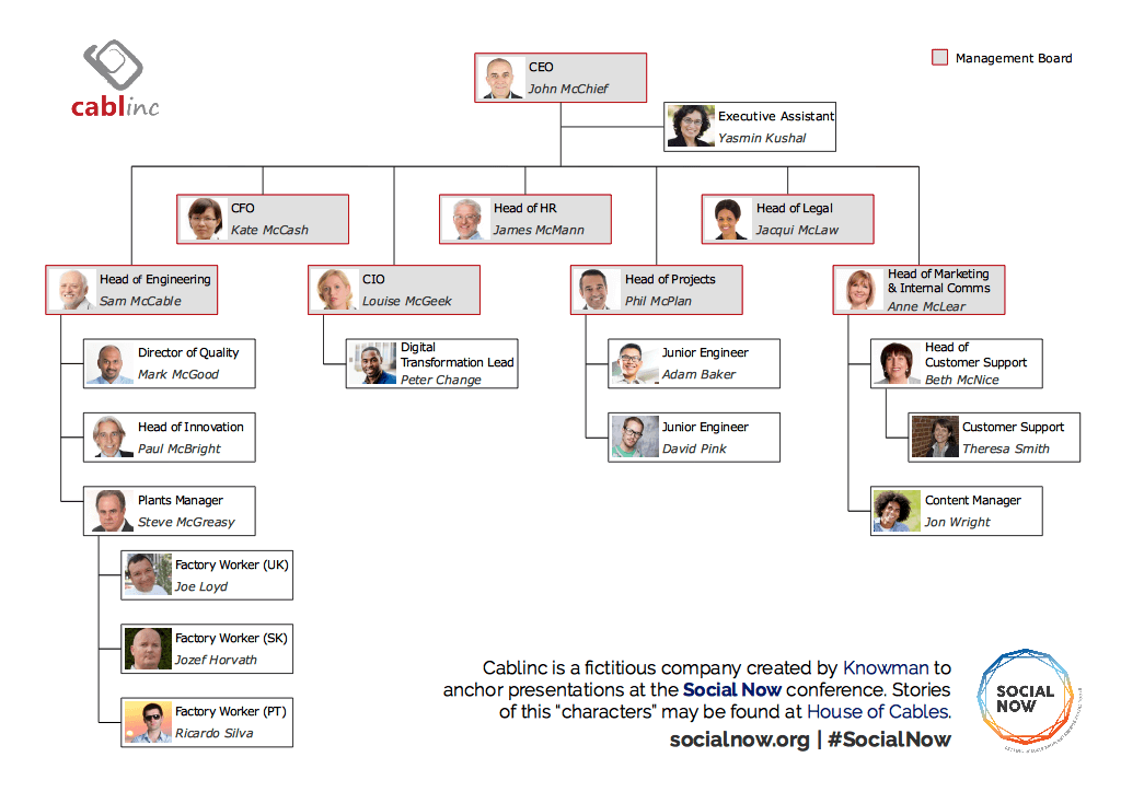 Cablinc's Organisational Chart