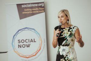 Céline Shillinger presenting at Social Now 2019
