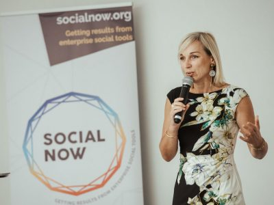 Céline Shillinger presenting at Social Now 2019