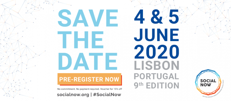 Save the date for Social Now 2020