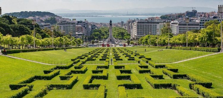 Lisbon - view from Park Edward VII